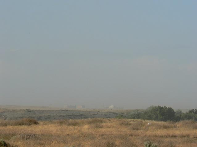 Hanford Facility Through a Dust Storm