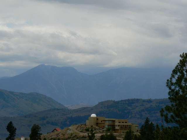 Private astronomical observatory on Anarchist Mountain looking towards Hurley Peak