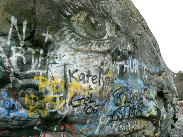 Big Rock, Campbell River, Painted as a Salmon