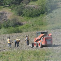 Compacting the Soil in Vernon